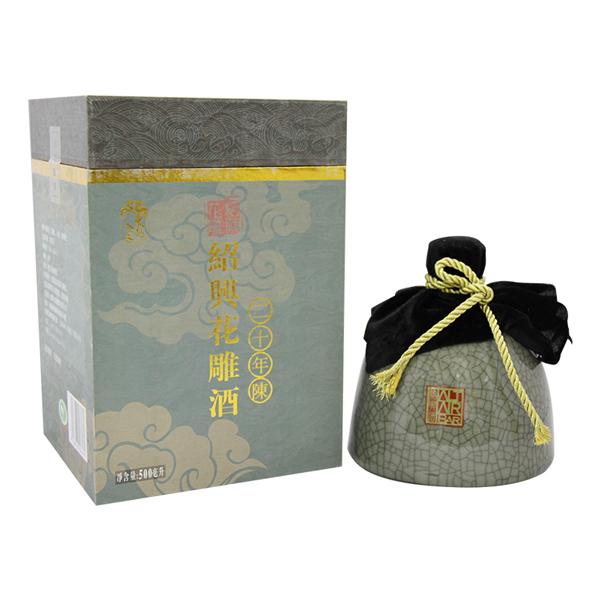 東越人家紹興花雕酒二十年陳  (普箱、卡盒、碎瓷瓶)
